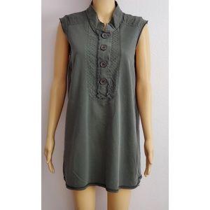 Hale' Bob Charcoal Gray Mini Dress Size XL